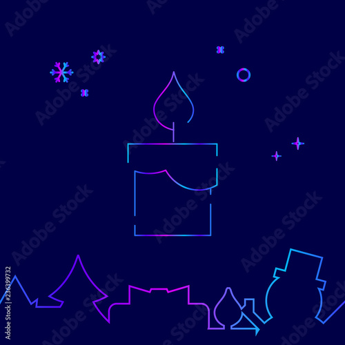 christmas and new year gradient symbol pictogram sign