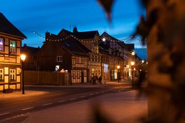 Abends in Wernigerode zur Weihnachtszeit