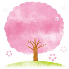 桜の木 背景イラスト