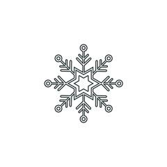 Snowflake icon or logo. Christmas and winter theme symbol. Vector and illustration. xmas icon