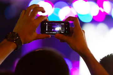 the concert video recording with mobile phone