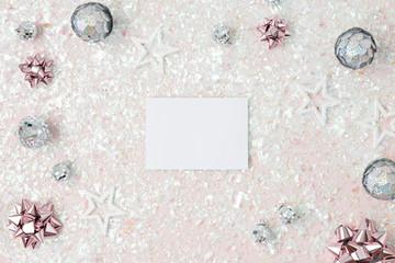 framework for christmas card invitation or congratulation