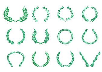 月桂樹のオーナメント(グリーン)ローレルリース|飾り囲み・LAUREL Wreath