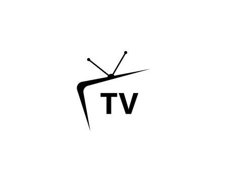 TV logo design flat icon