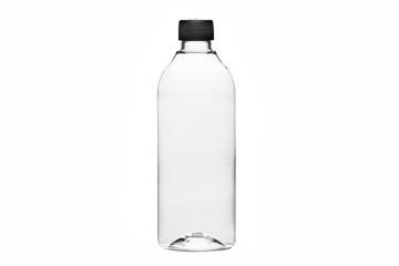 Plastikowa butelka na białym tle