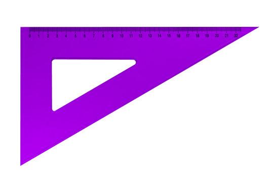 Plastic triangular ruler - violet