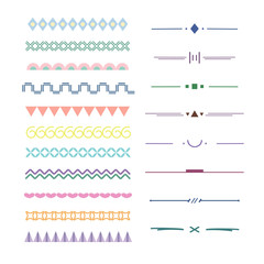 Geometric vignette and ornamental element for border