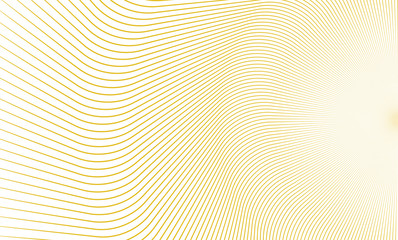 Vector Illustration of the pattern of golden lines on white background. EPS10.