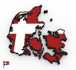 Denmark high detailed 3D map