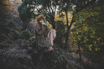 Stylish Editorial Fashion Shooting In the Forest