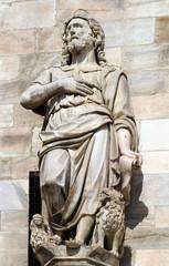 Daniel, statue on the Milan Cathedral, Duomo di Santa Maria Nascente, Milan, Lombardy, Italy