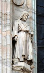 Saint Eligius, statue on the Milan Cathedral, Duomo di Santa Maria Nascente, Milan, Lombardy, Italy