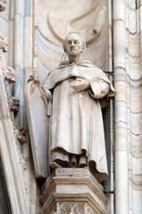Saint James, statue on the Milan Cathedral, Duomo di Santa Maria Nascente, Milan, Lombardy, Italy