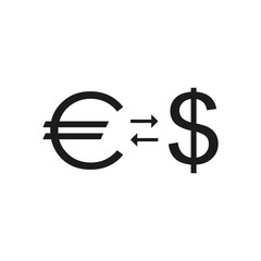 Euro and dollar. Currency exchange