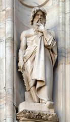 Noah, statue on the Milan Cathedral, Duomo di Santa Maria Nascente, Milan, Lombardy, Italy