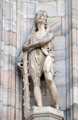 Abel, statue on the Milan Cathedral, Duomo di Santa Maria Nascente, Milan, Lombardy, Italy