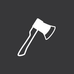 Vector icon axe. Ax logo.