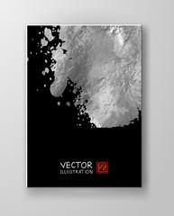 Vector Black and Silver Design Templates