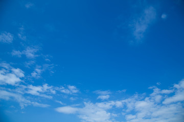 Beautiful Blue Sky With Clouds On Sunshine
