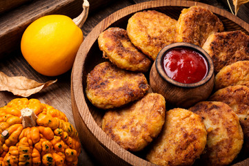 Vegetable cutlets with pumpkin