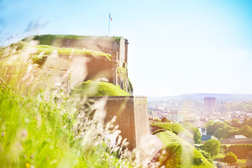 Scenic view of Belfort city and Vauban citadel