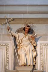Apostle, statue in the church of St. Leodegar in Lucerne, Switzerland