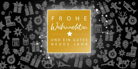 Frohe Weihnachten und ein gutes neues Jahr Grußkarte zum Weihnachtsfest und Jahreswechel