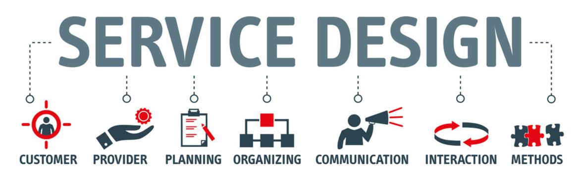 Banner service design concept vector illustration