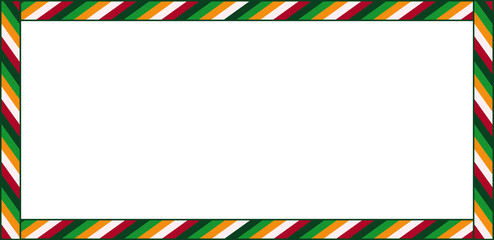 Cute Christmas or New Year rectangle billboard frame with copy space