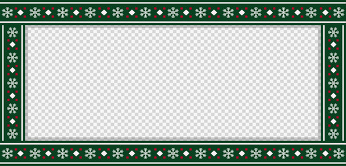 Christmas rectangle template, frame, banner, billboard, signboard, copy space.