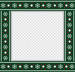 Vector square christmas bordering, photo frame, scrapbooking element, copy space