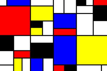 Mondrian Style Hintergrund gross