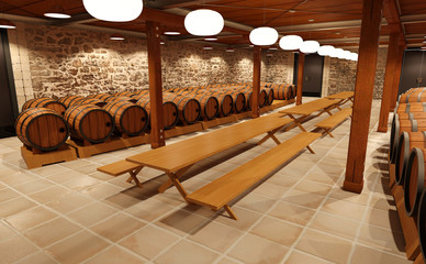 3D Rendering Wine Hall