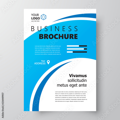 Flyer brochure design, business flyer size A4 template