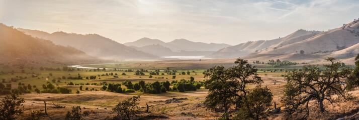 USA, California, Three Rivers, panoramic view