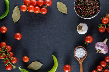red cherry tomatoes and spices