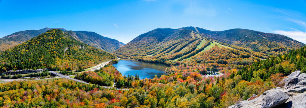 Echo Lake in the Fall in Vermont