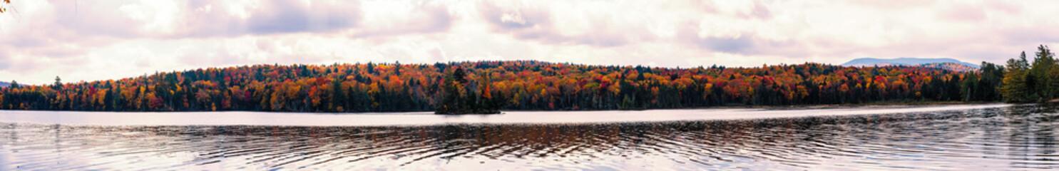 Treelined Autumn Lake, New York