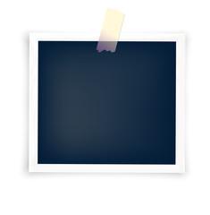 blank photo frame with sticker