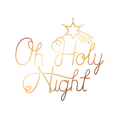oh holy night isolated icon