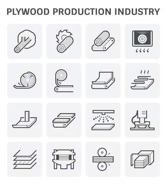 plywood production icon