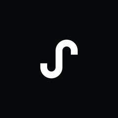 Outstanding professional elegant trendy awesome artistic black and gold color S JS SJ initial based Alphabet icon logo.