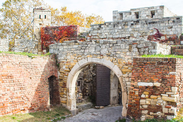 Ancient gate in Belgrade fortress. Serbia