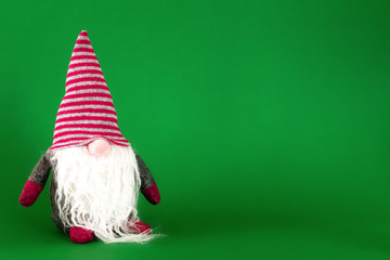 a Christmas gnome with white beard