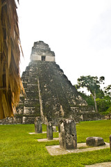 Mayan temples in Tikal National Park, Guatemala, Central America