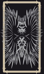 Tarot cards - back design.  Butterfly, abstract drawing