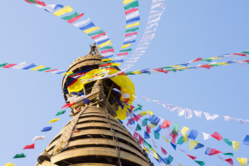 Swayambhunath Temple Stupa, Kathmandu, Nepal