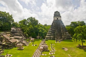 Mayan temples in Tikal, Guatemala, Central America