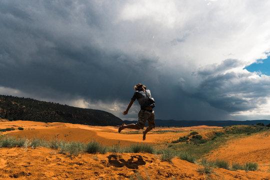 Storm over the desert sands