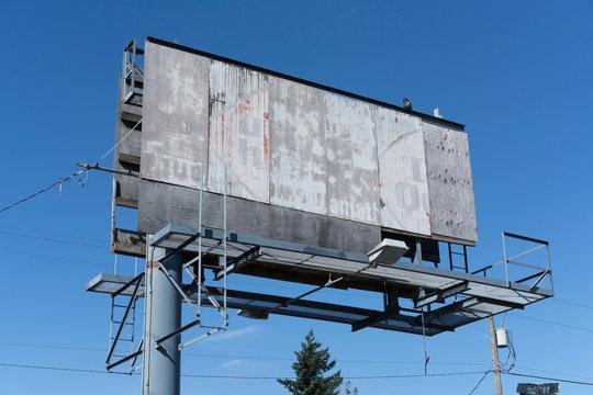 Old Blank Billboard